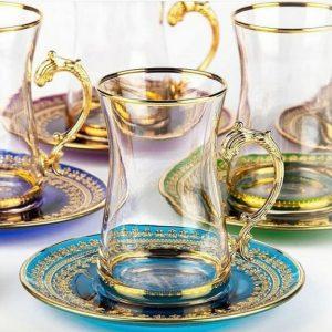 Sema Kulplu Çay Bardak Seti