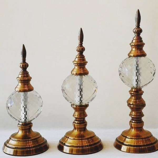 Dekoratif Obje Kristalli 3'lü