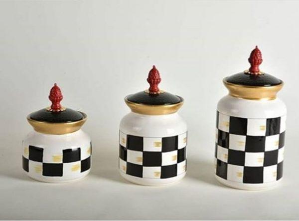 Dama Kavanoz Porselen 3'lü Set