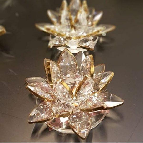Kristal Nilüfer Dekoratif Obje