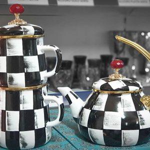 Emaye El Boyama Çaydanlık