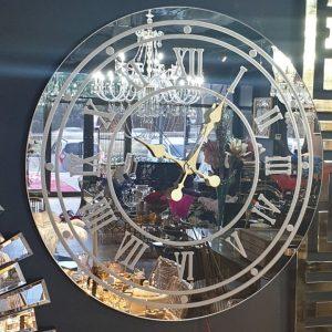 Aynalı Ledli Saat 60 cm