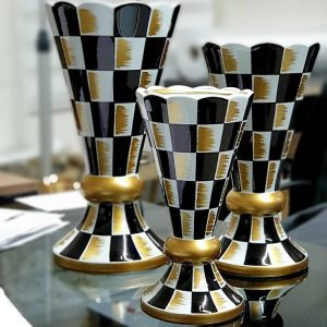 Seramik Vazo - Damalı